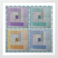 Country Quilt  Art Print
