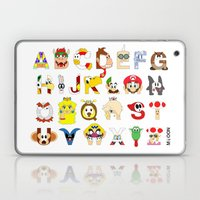 Super Mario Alphabet Laptop & iPad Skin