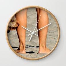 Touching Base Wall Clock