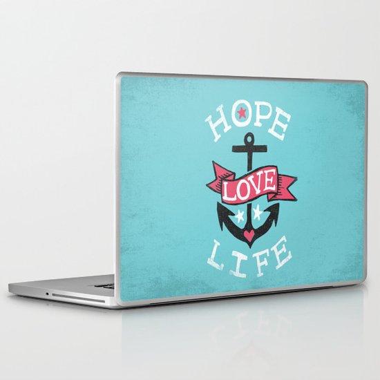 HOPE LOVE LIFE - ANCHOR Laptop & iPad Skin