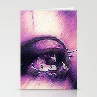 Tears - Pencil Drawing Stationery Cards