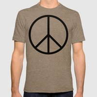 CND Peace Symbol Mens Fitted Tee Tri-Coffee SMALL
