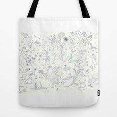 Blue Toile Tote Bag