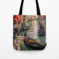 Gondolas at Sunset Tote Bag