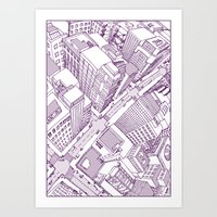 The Watched City Art Print