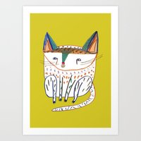 Cat. cats, kitten, cat art, cat illustration, cat pattern Art Print