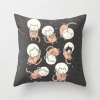 Cat-Stronauts Throw Pillow