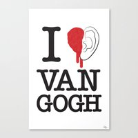 I love Van Gogh Canvas Print