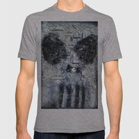 THE PUNISHER Mens Fitted Tee Athletic Grey SMALL