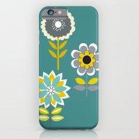 70ies inspired flowers iPhone 6 Slim Case