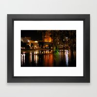 Night Time On The Torren… Framed Art Print