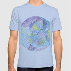 Bubbles Mens Fitted Tee Athletic Blue SMALL
