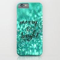 Merry And Bright-aqua iPhone 6 Slim Case
