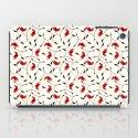 Strange Red Flowers Pattern iPad Case
