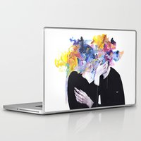 lips Laptop & iPad Skins featuring intimacy on display by agnes-cecile