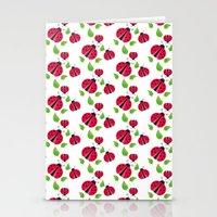 Ladybird pattern Stationery Cards