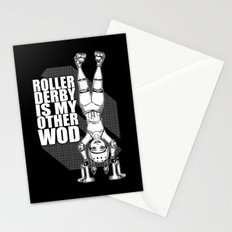 Roller Derby is My Other Wod Crossfit Stationery Cards