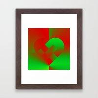 Danish Heart Holidays #6… Framed Art Print