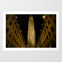 Rock Center Redux Art Print