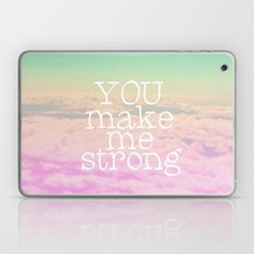 YOU MAKE ME STRONG Laptop & iPad Skin