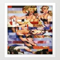Glitch Pin-Up Redux: Tay… Art Print