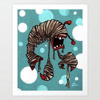 Lobster Mummy! Art Print