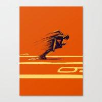 Athlethic's Run Canvas Print