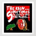 The Blues  |  Misery Art Print