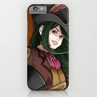 iPhone Cases featuring Alice - Late but Lucky by Kirael Art