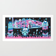The city never sleep Art Print