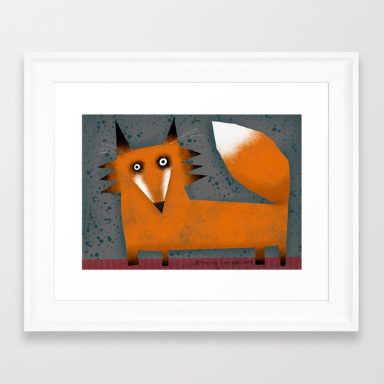 BRIGHT EYED Framed Art Print