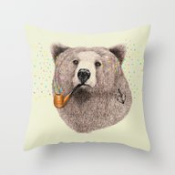 Sailor Bear Throw Pillow