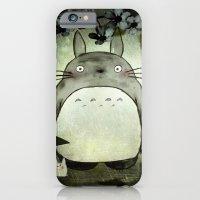 iPhone & iPod Case featuring Totoro in the rain by munieca