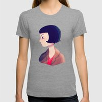 Amelie Womens Fitted Tee Tri-Grey SMALL