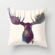 Throw Pillow featuring Moose by Amy Hamilton