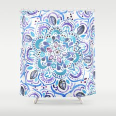 The Blues - Watercolor M… Shower Curtain