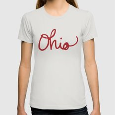 Ohio Womens Fitted Tee Silver SMALL