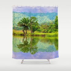 RIVER MIRROR Shower Curtain
