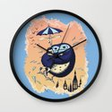 High Flying Hugs Wall Clock