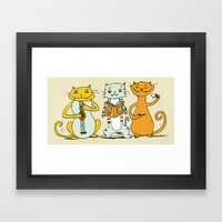Cat Trio Framed Art Print