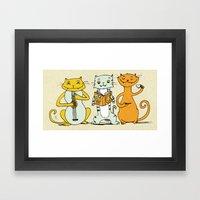Cat Trio Framed Art Print
