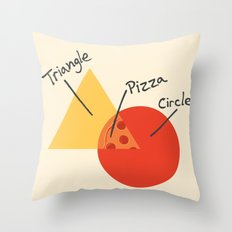 A College Venn Diagram Throw Pillow