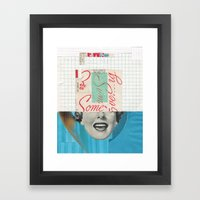 Ew Some Blue Framed Art Print