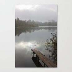 Mist on lake Canvas Print