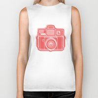I Still Shoot Film Holga Logo - Red Biker Tank