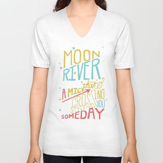 MOON RIVER V-neck T-shirt