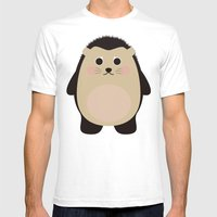 Hubert The Hedgehog Mens Fitted Tee White SMALL
