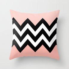 DOUBLE COLORBLOCK CHEVRON {PEACH/PEACH} Throw Pillow