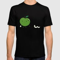 Apple's pet SMALL Mens Fitted Tee Black