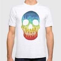Paper Skull Mens Fitted Tee Ash Grey SMALL